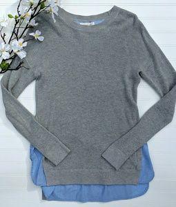 Treasure & Bond Gray/Blue Crewneck Sweater
